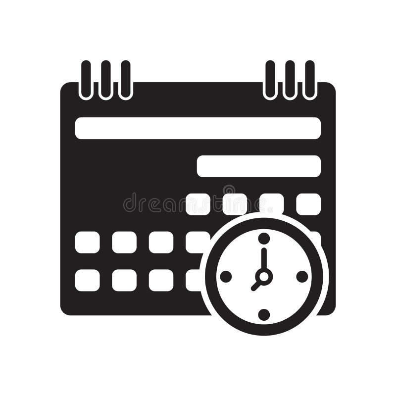 Значок календаря изолированный на белой предпосылке иллюстрация вектора