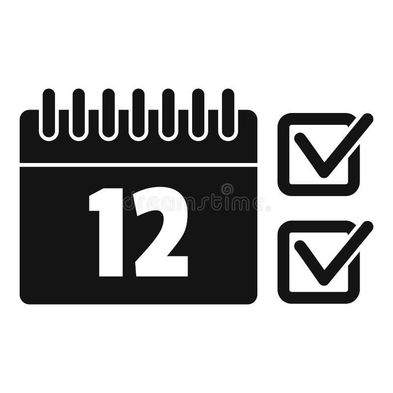 Значок календаря, простой стиль иллюстрация вектора