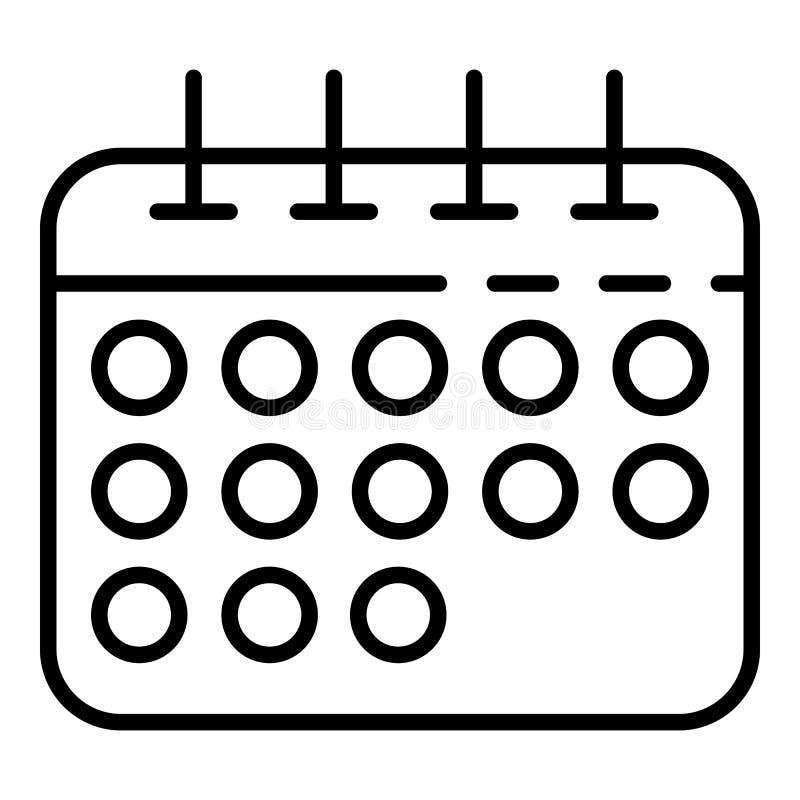 Значок календаря, стиль плана бесплатная иллюстрация