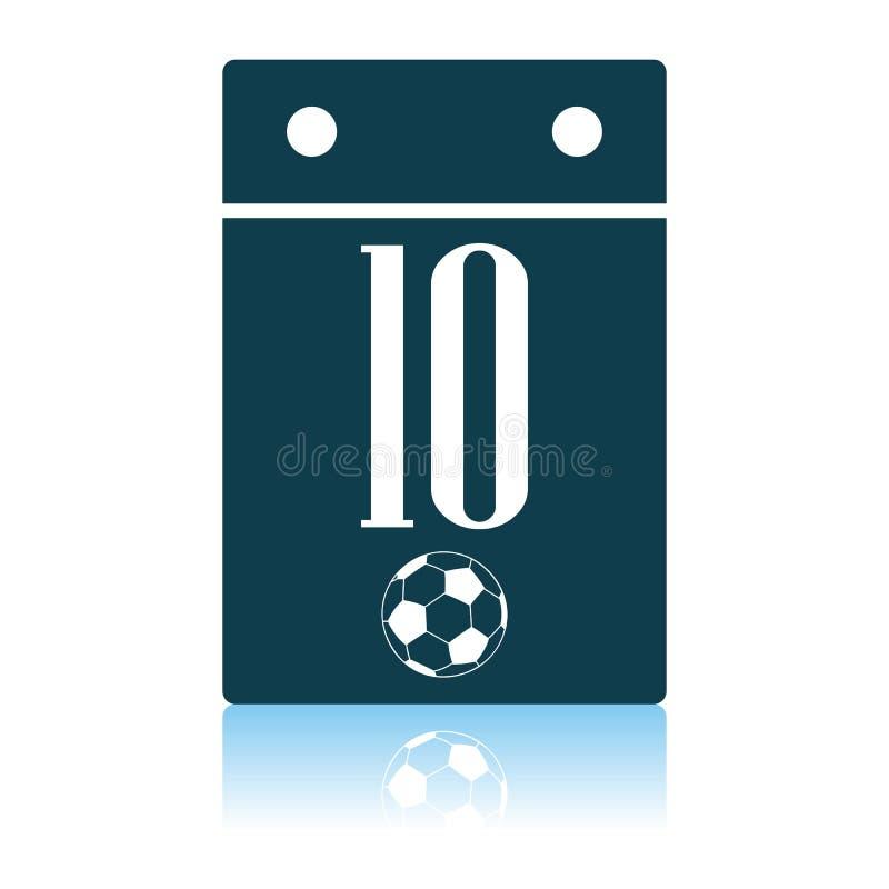 Значок календаря футбола иллюстрация вектора