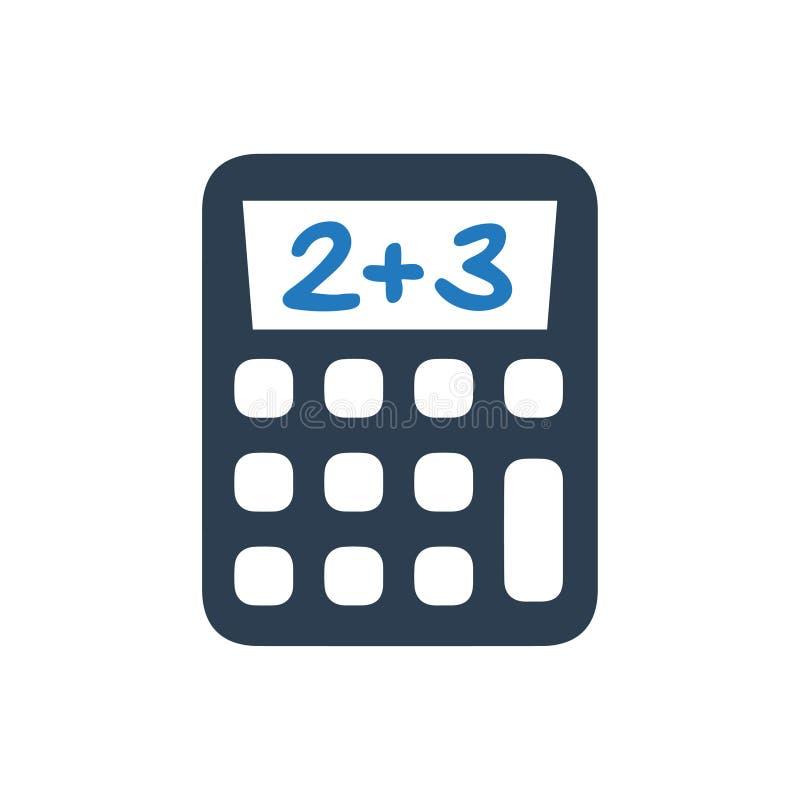 Значок калькулятора математики иллюстрация вектора