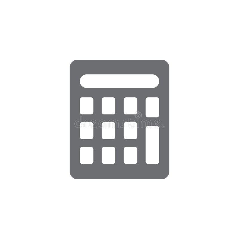 Значок калькулятора Простая иллюстрация элемента шаблон дизайна символа калькулятора Смогите быть использовано для сети и черни иллюстрация вектора