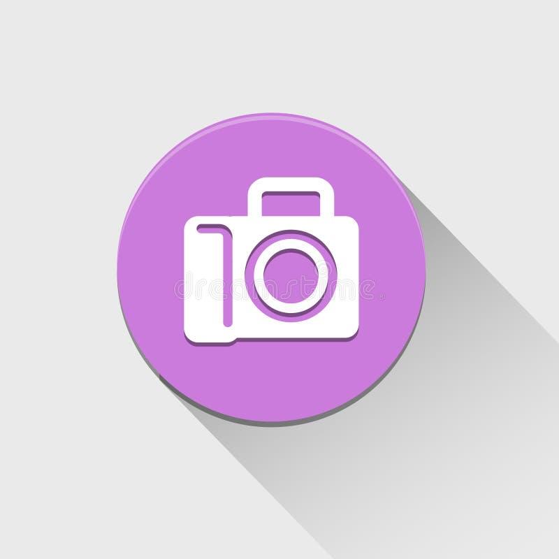 Значок камеры большой для любых использует желтый цвет обоев вектора уравновешивания rac померанцовой картины цветков eps10 высте бесплатная иллюстрация