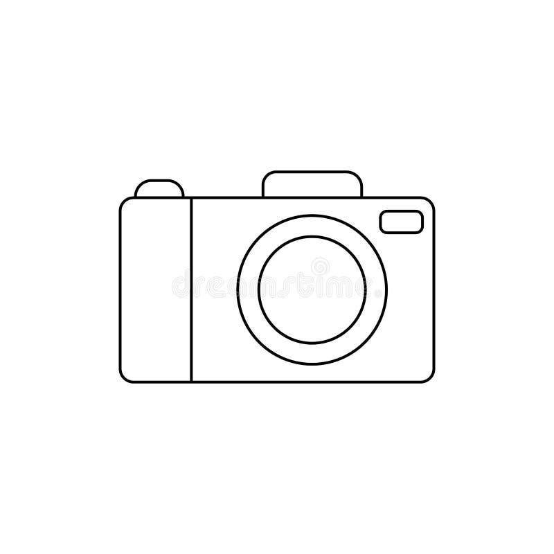 Значок камеры в линии стиле Символ для вашего дизайна вебсайта, логотип камеры, app, UI также вектор иллюстрации притяжки corel иллюстрация штока