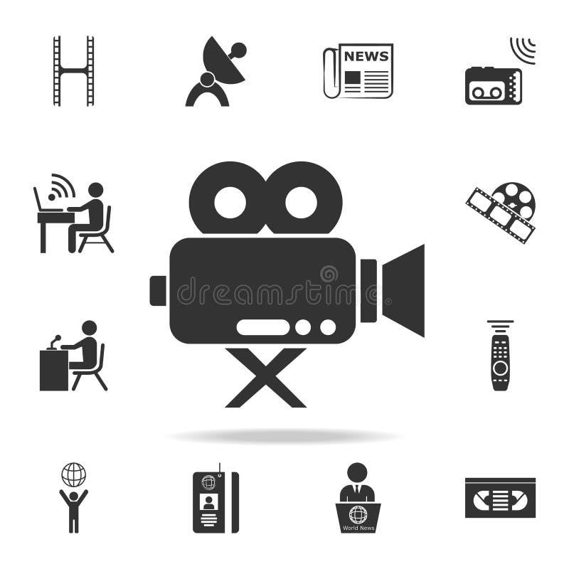 значок камеры кино Детальные значки комплекта значка элемента средств массовой информации Наградной качественный графический диза иллюстрация штока