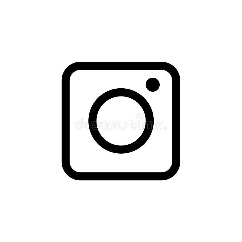Значок камеры на белой предпосылке бесплатная иллюстрация