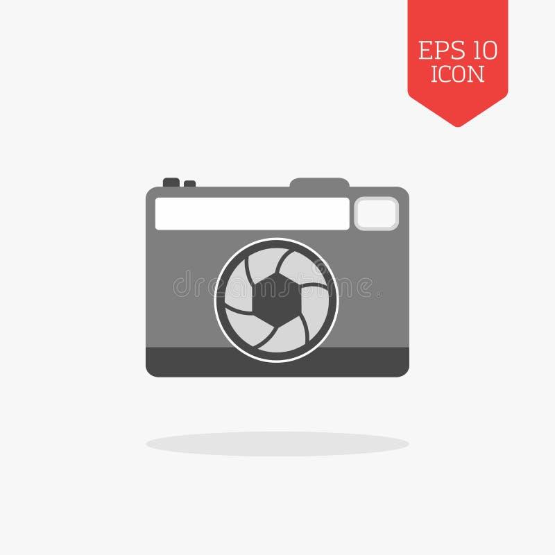 Значок камеры фото Символ цвета плоского дизайна серый Современная сеть UI бесплатная иллюстрация