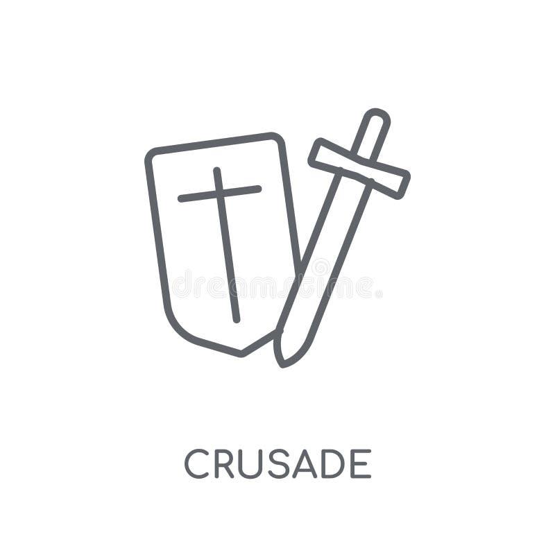 Значок кампании линейный Современная концепция логотипа кампании плана на whit иллюстрация штока