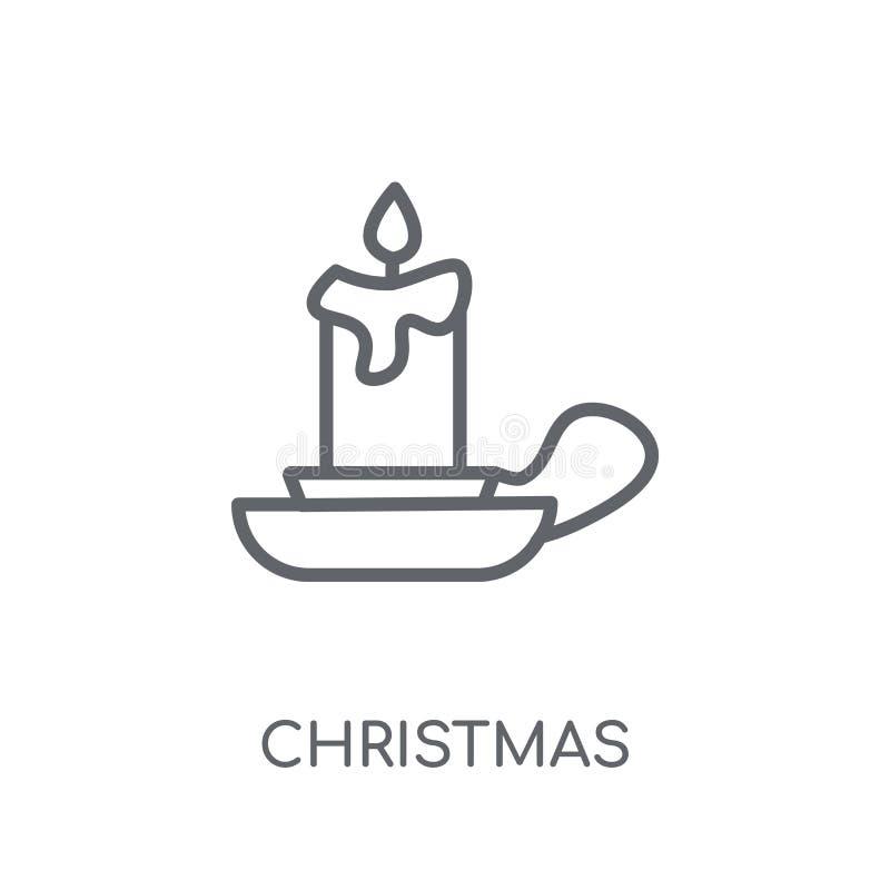 значок канделябров рождества линейный Современное cande рождества плана бесплатная иллюстрация