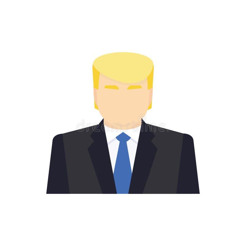 Значок кандидата в президенты Иллюстрация вектора в плоском стиле иллюстрация вектора