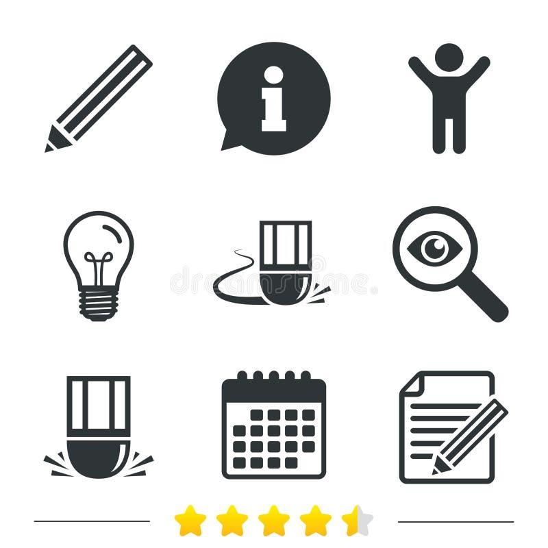 Download Значок карандаша Редактируйте фаил документа Знак ластика Иллюстрация вектора - иллюстрации насчитывающей редактируйте, кнопка: 81804757