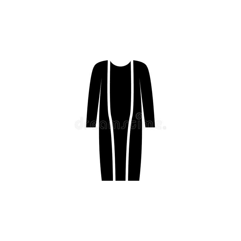 значок кардигана на белой предпосылке Одежда или одежды или мода для иллюстрации вектора значка женщины человека иллюстрация вектора