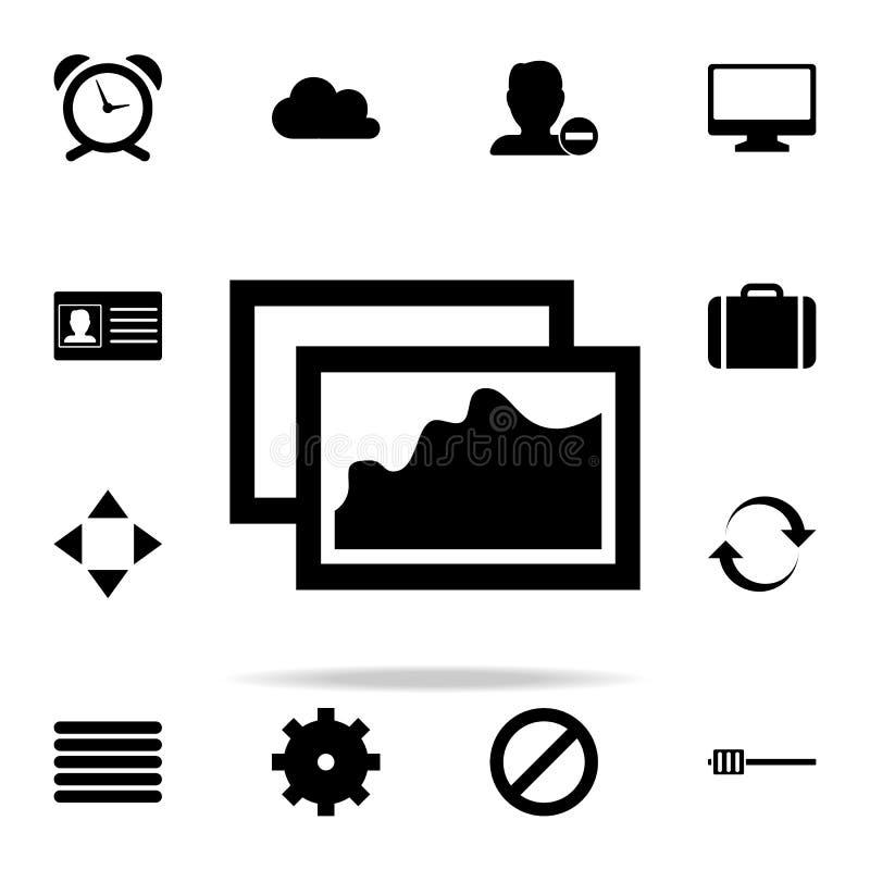 значок картин комплект значков сети всеобщий для сети и черни иллюстрация вектора