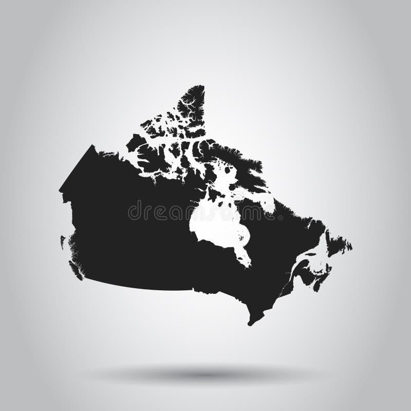 Значок карты Канады Плоская иллюстрация вектора Wi символа знака Канады бесплатная иллюстрация