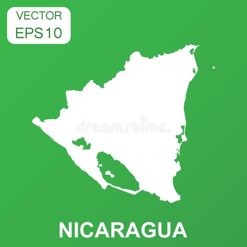 Значок карты Никарагуа Пиктограмма Никарагуа концепции дела вектор иллюстрация вектора