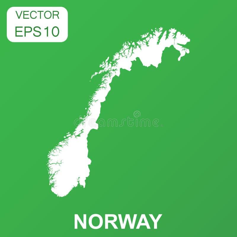 Значок карты Норвегии Пиктограмма Норвегии концепции дела вектор иллюстрация вектора