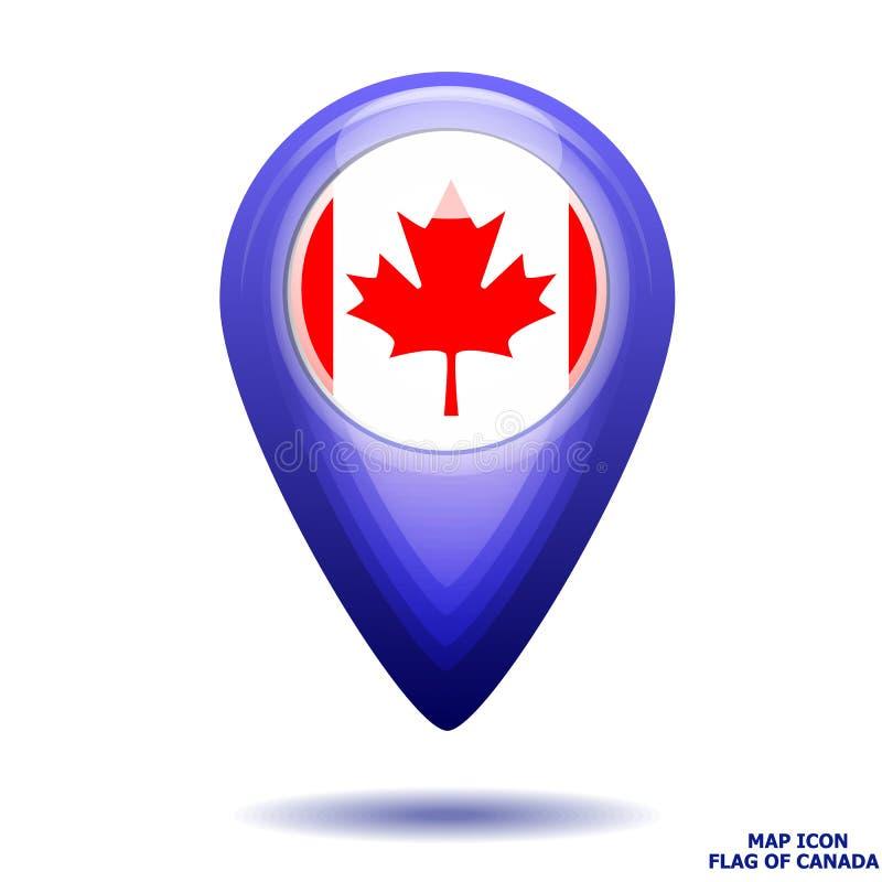 Значок карты с флагом Канады r бесплатная иллюстрация
