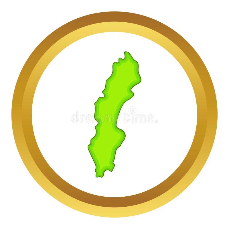 Значок карты Швеции бесплатная иллюстрация