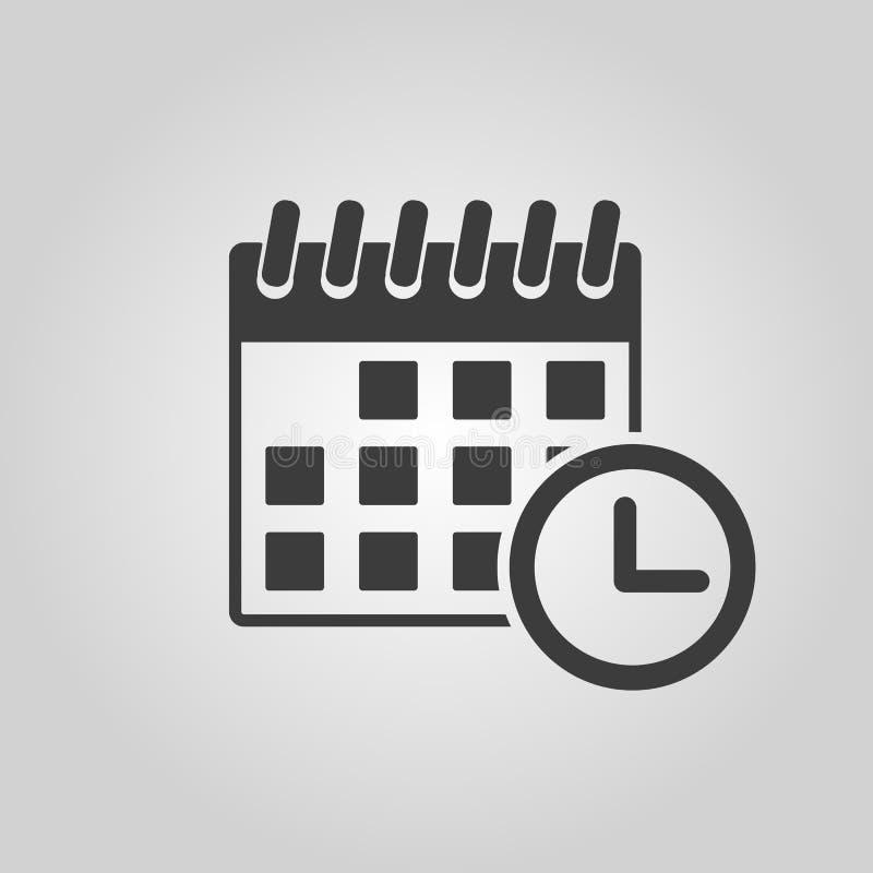Значок календаря Напоминание и событие, символ времени плоско иллюстрация штока
