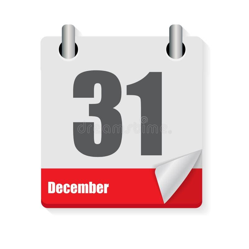 Значок календаря плоско ежедневный Эмблема иллюстрации вектора Элемент  бесплатная иллюстрация