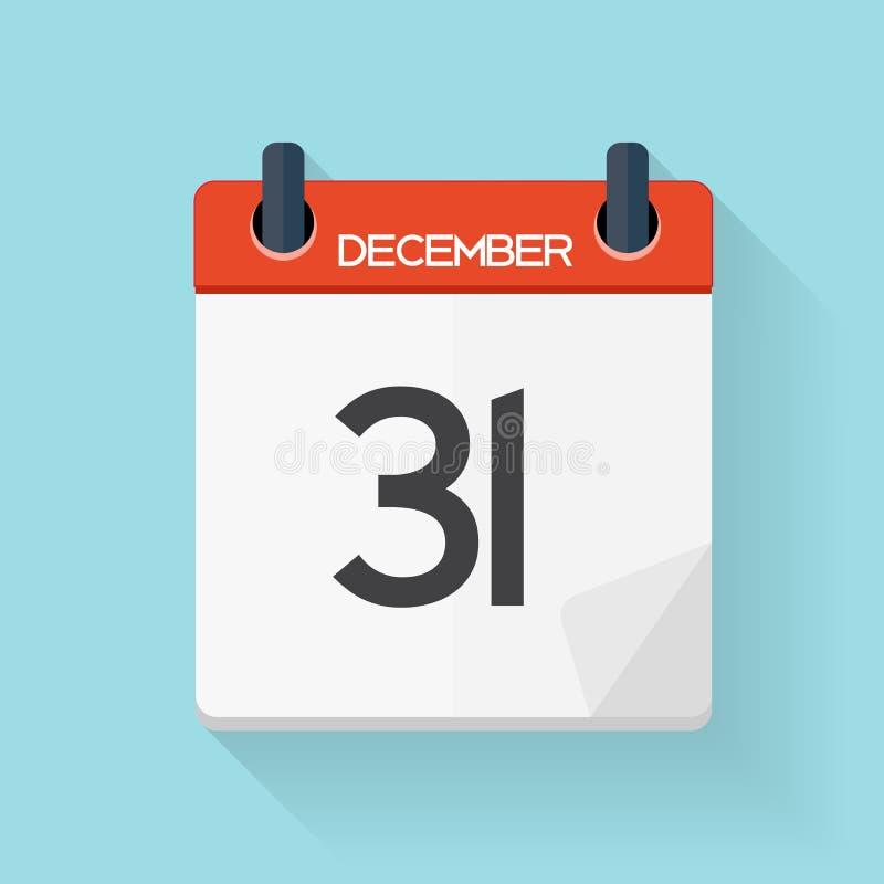 Значок календаря плоско ежедневный Эмблема иллюстрации вектора иллюстрация штока