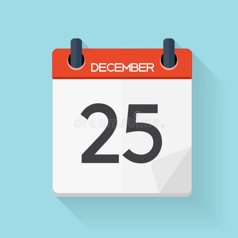 Значок календаря плоско ежедневный Эмблема иллюстрации вектора бесплатная иллюстрация