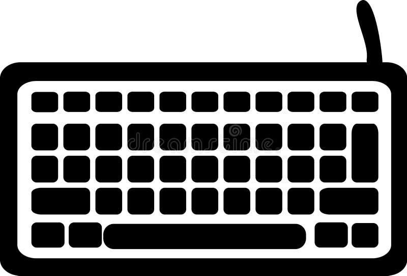 Значок клавиатуры компьютера иллюстрация штока