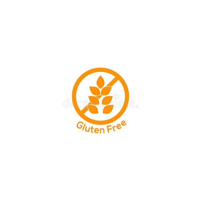 Значок клейковины свободный отсутствие символа пшеницы иллюстрация вектора