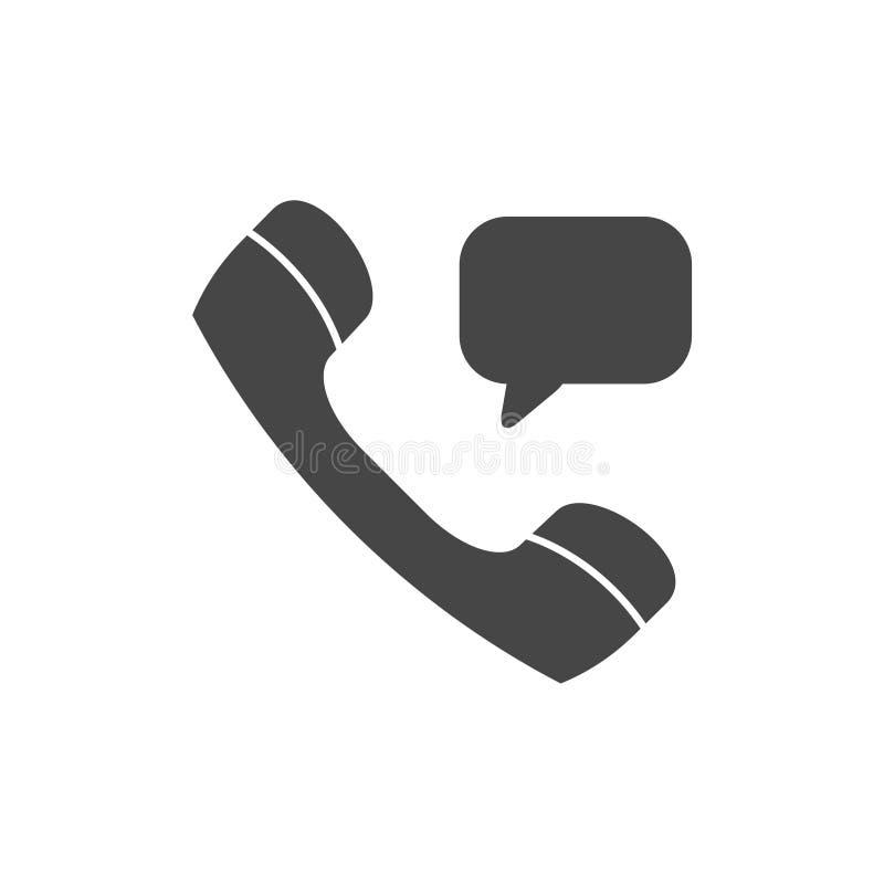 Значок клетки, значок звонка, трубка телефона значка иллюстрация вектора