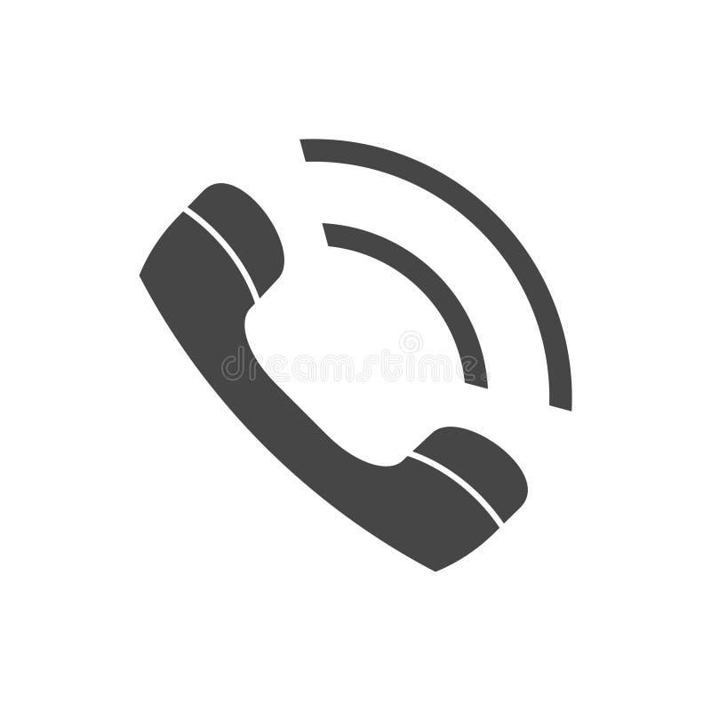 Значок клетки, значок звонка, трубка телефона значка иллюстрация штока