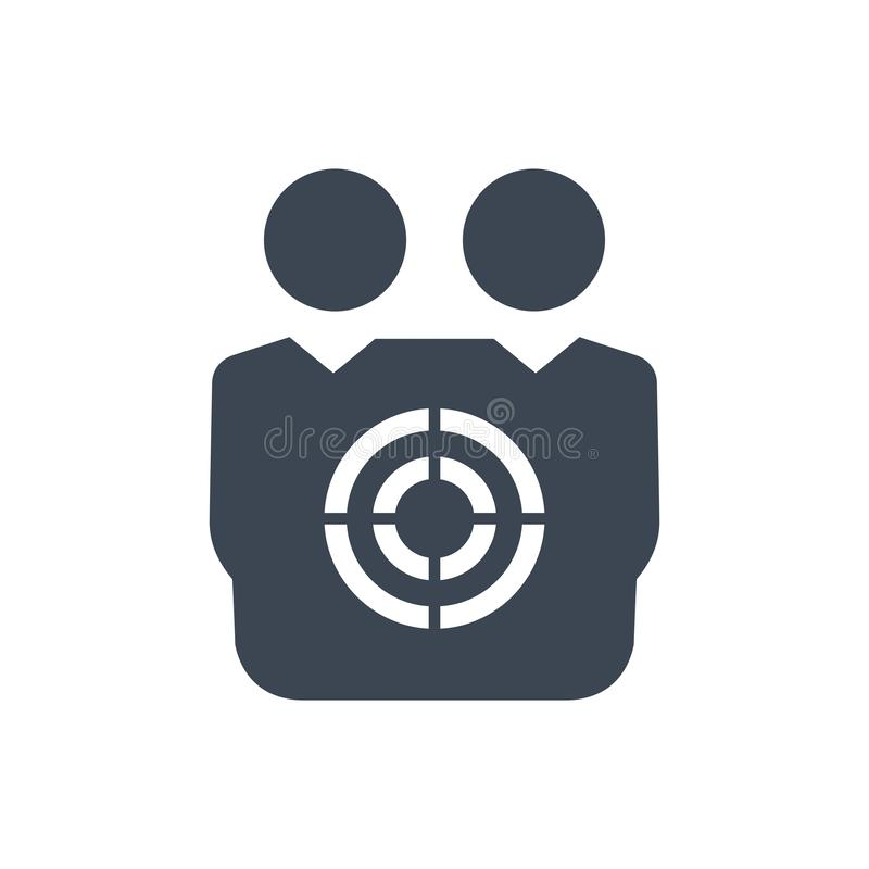 Значок клиента цели иллюстрация штока