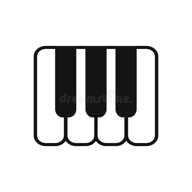 Значок ключа примечания музыки клавиатуры рояля музыкального инструмента классический - вектор иллюстрация вектора