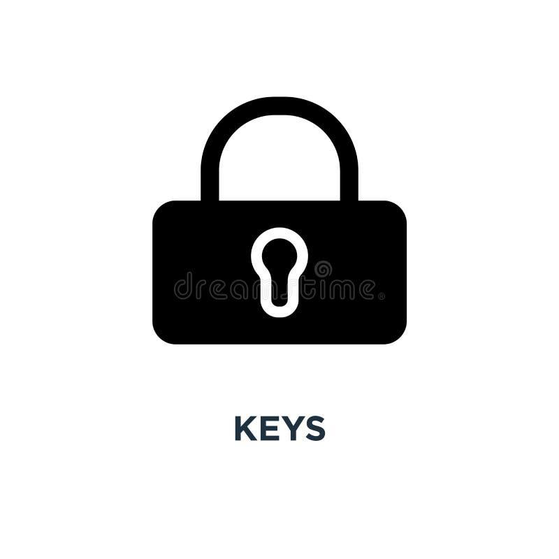 Значок ключей ключ des символа концепции знака защиты и безопасности бесплатная иллюстрация
