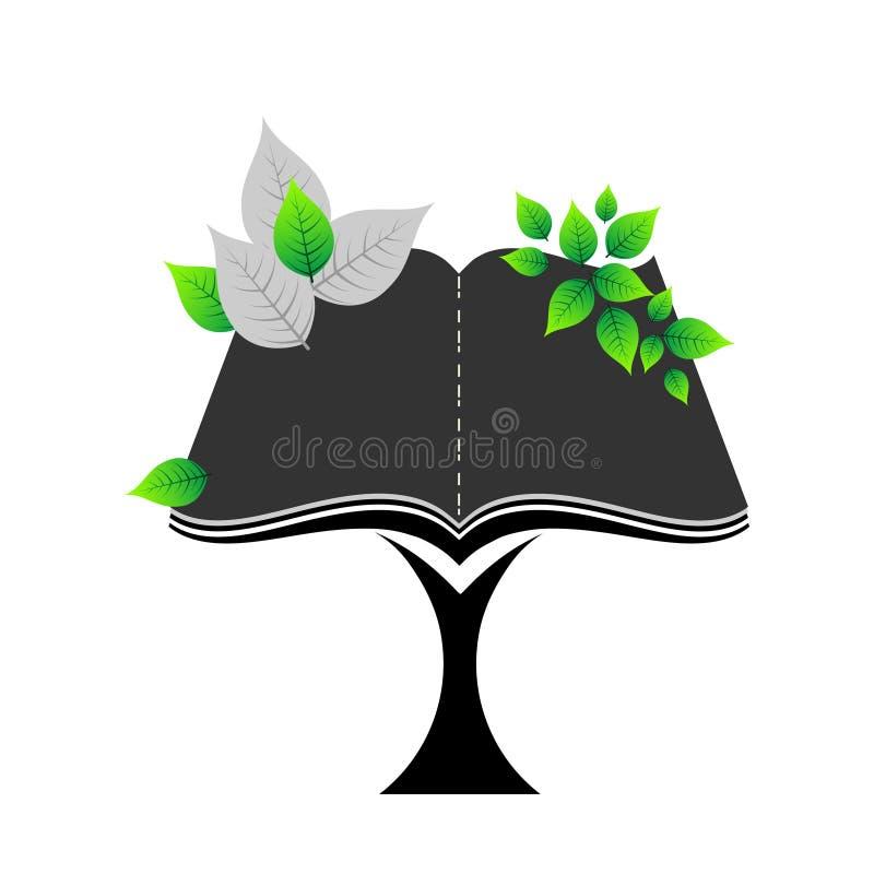 Значок книги дерева иллюстрация вектора