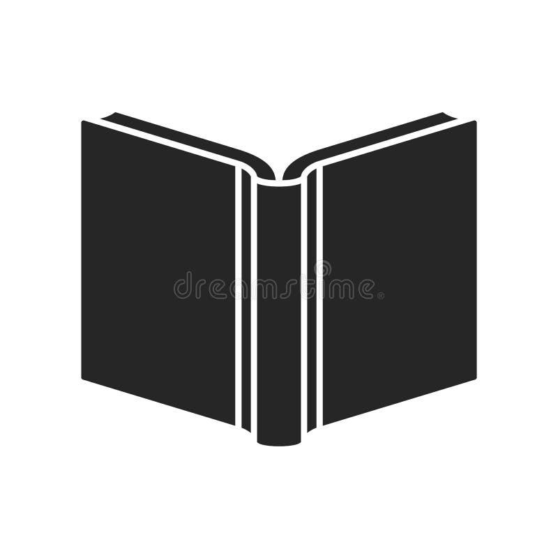 Значок книги плоский на белой предпосылке, для любого случая иллюстрация штока