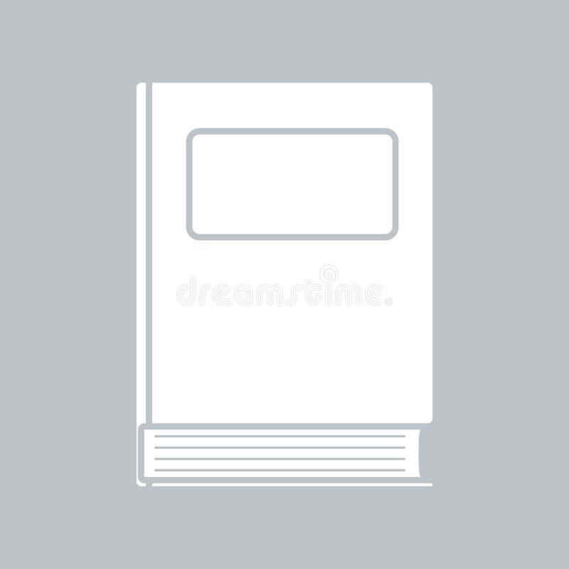 Значок книги плоский на серой предпосылке, для любого случая иллюстрация штока
