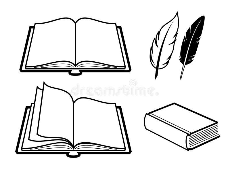 Значок книги иллюстрация вектора