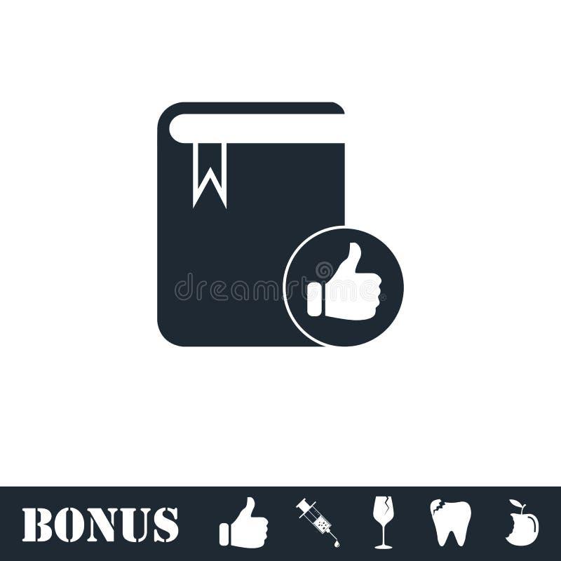 Значок книги VIP любимый плоско иллюстрация штока