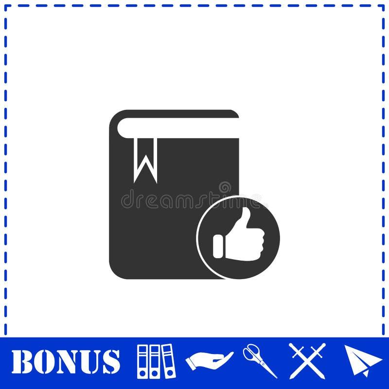Значок книги VIP любимый плоско иллюстрация вектора