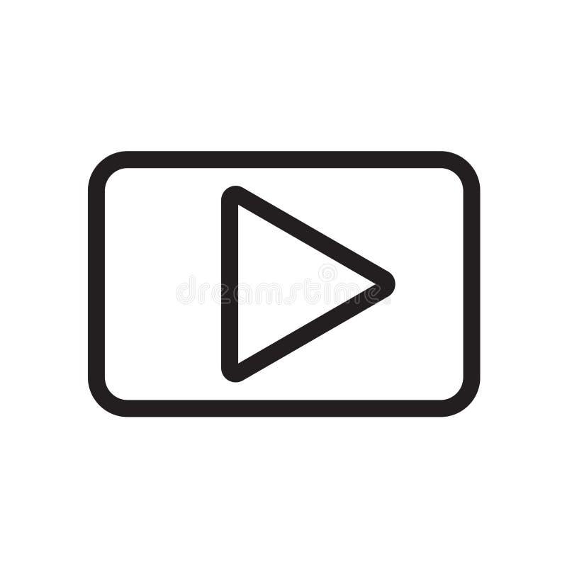 Значок кнопки игры изолированный на белой предпосылке бесплатная иллюстрация