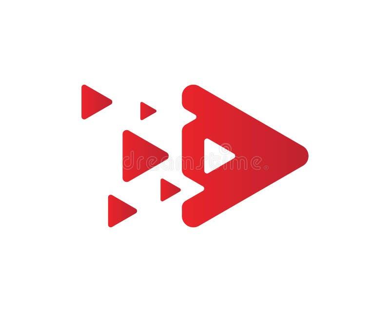 Значок кнопки игры стоковое изображение rf