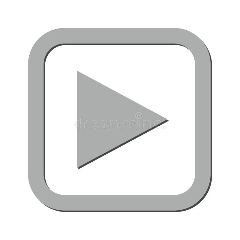 Значок кнопки игры иллюстрация вектора