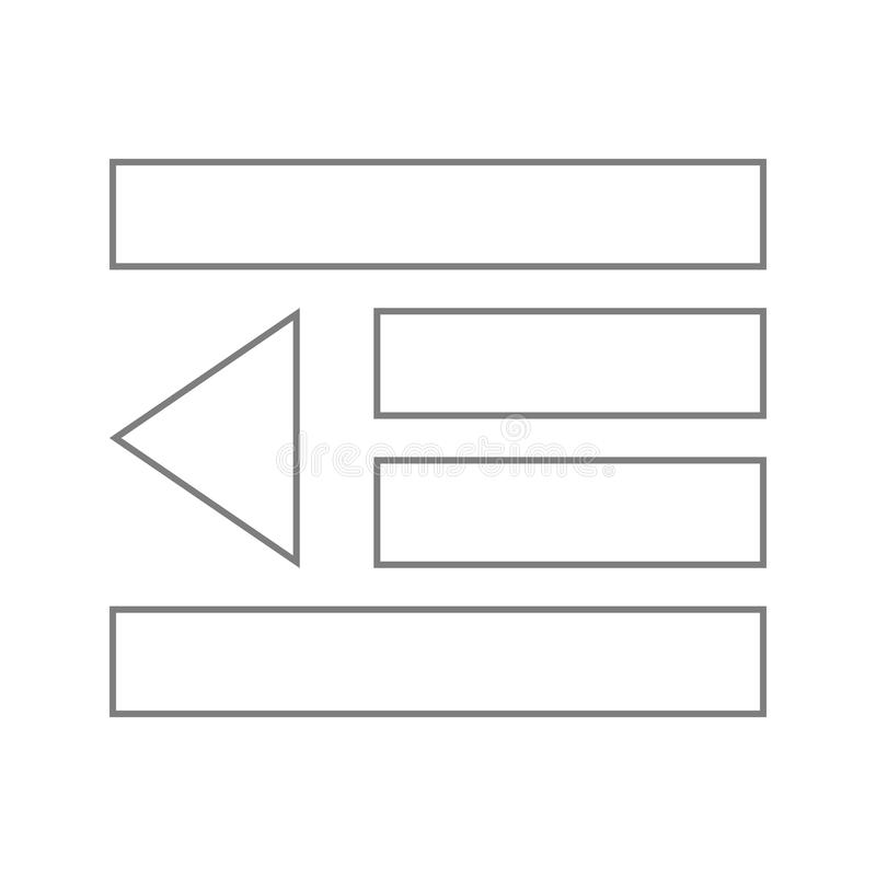значок кнопки списка игры Элемент безопасности кибер для мобильных концепции и значка приложений сети Тонкая линия значок для диз иллюстрация вектора