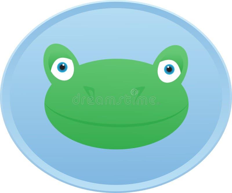 Значок кнопки лягушки головной иллюстрация штока