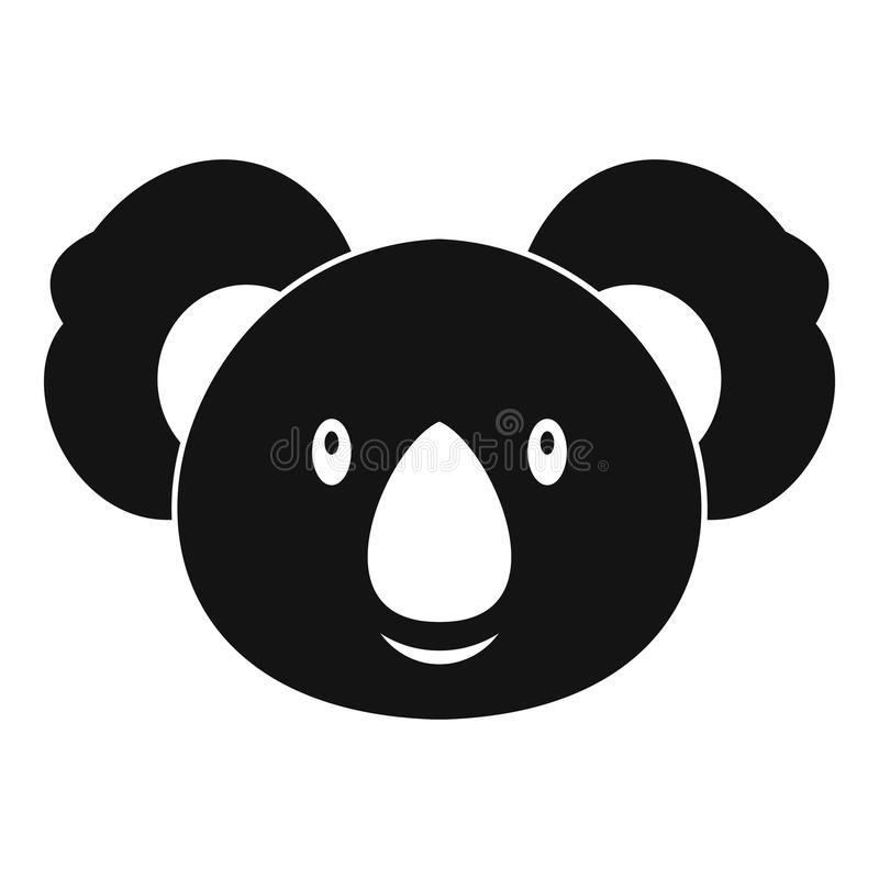 Значок коалы, простой стиль бесплатная иллюстрация