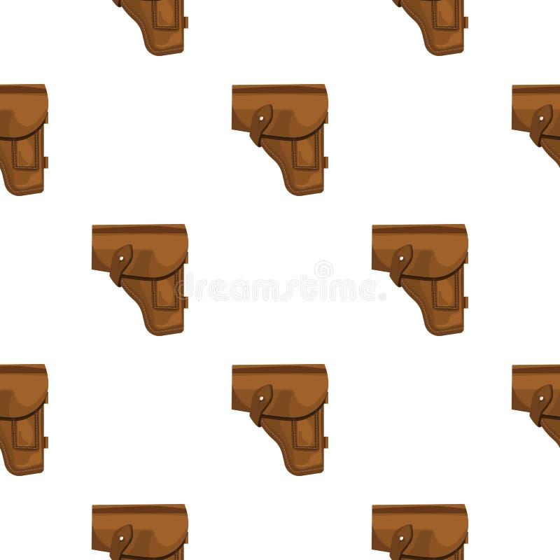 Значок кобуры личного огнестрельного оружия армии в стиле шаржа изолированный на белой предпосылке Вектор запаса войск и картины  иллюстрация штока