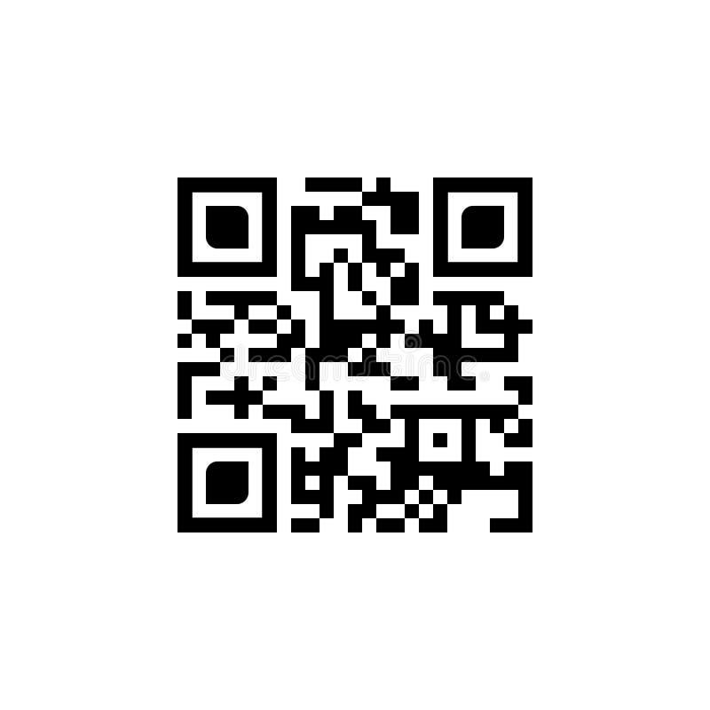 Значок кода qr образца Иллюстрация вектора изолированная на белой предпосылке иллюстрация штока