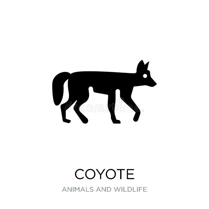 значок койота в ультрамодном стиле дизайна значок койота изолированный на белой предпосылке символ значка вектора койота простой  иллюстрация штока