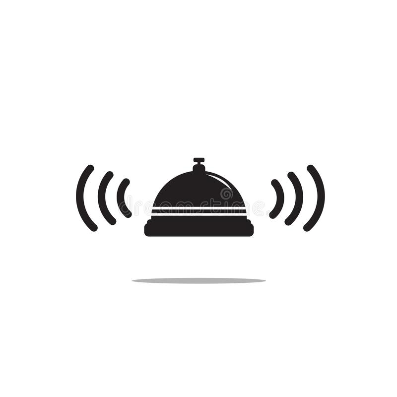 Значок колокола на белой предпосылке r бесплатная иллюстрация