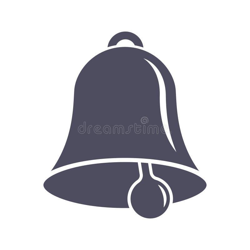 Значок колокола потревоженный иллюстрация вектора